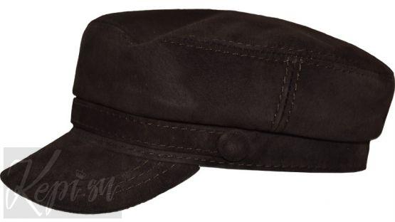 Картуз - фуражка замшевая (черная и коричневая).